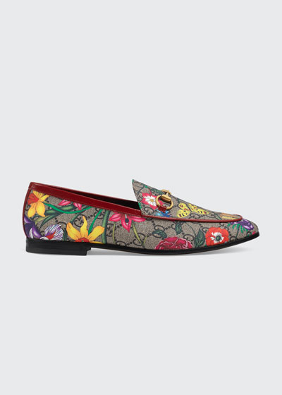 Jordaan Flat Floral Canvas Loafers