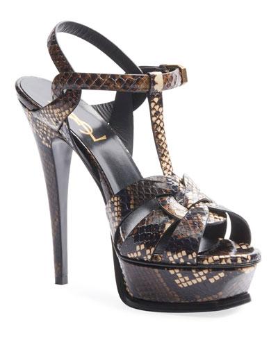 Tribute Snakeskin Platform Sandals