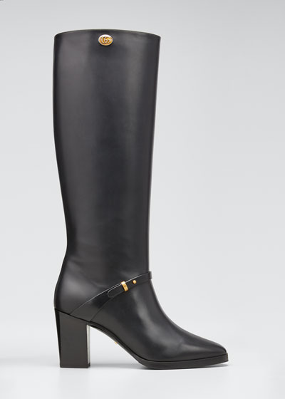 Rosie 75mm Leather Riding Boots