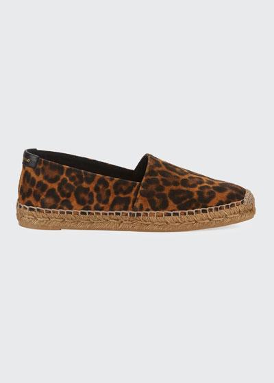 Leopard-Print Slip-On Espadrilles