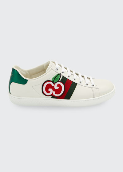 New Ace GG Apple Leather Sneakers