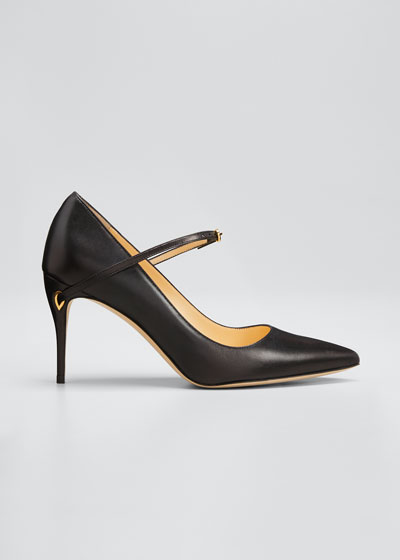 Laurenzo Leather Point-Toe Pumps