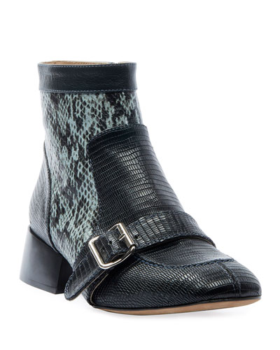 Susan Buckle Exotic Booties