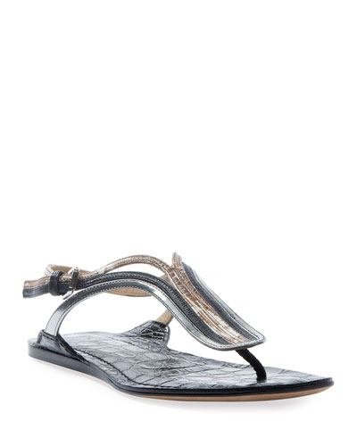 Carla Metallic Thong Sandals