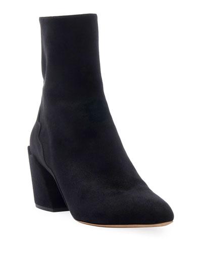 Laurena Ankle Suede Booties