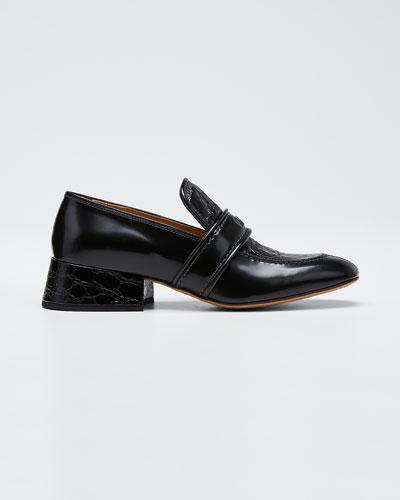 Cheryl Shiny Leather Loafers