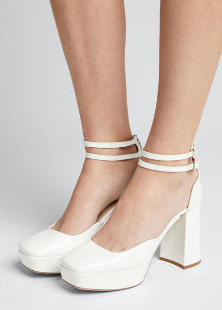 95mm Platform Double-Strap Pumps