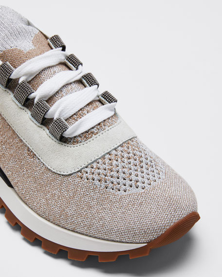 Knit Lurex Runner Monili Sneakers