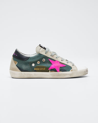 Superstar Mixed Leather Low-Top Sneakers