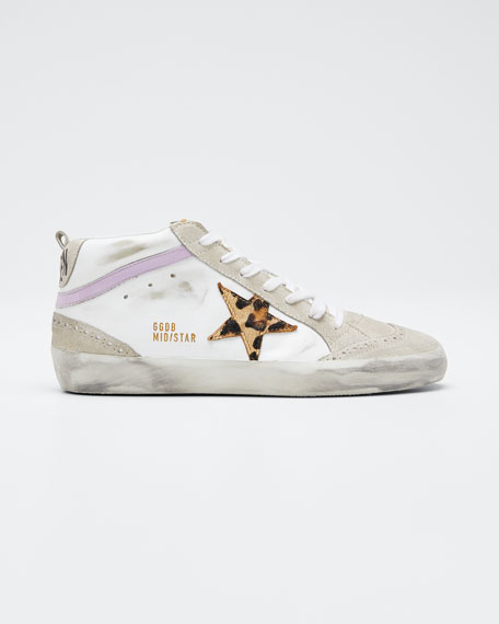 Superstar Mixed Leather Mid-Top Sneakers