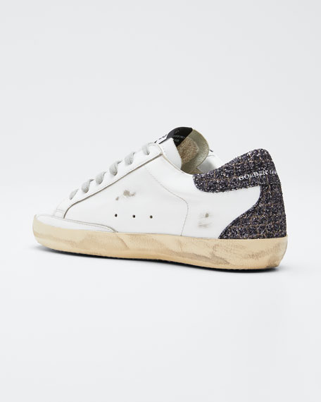 Superstar Glitter Lace-Up Sneakers
