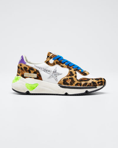 Running Leopard Shooting Star Sneakers