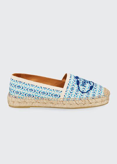Pattern Weave Flat Espadrilles