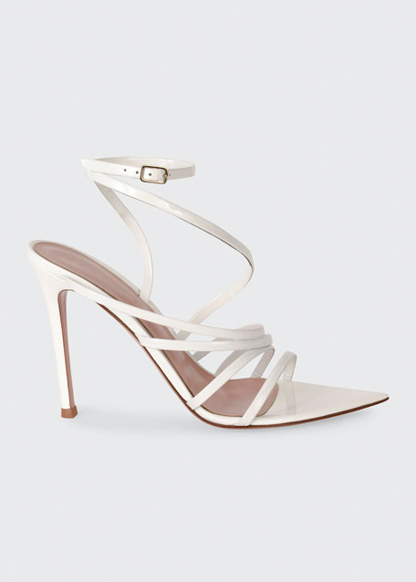 105mm Strappy Patent Sandals