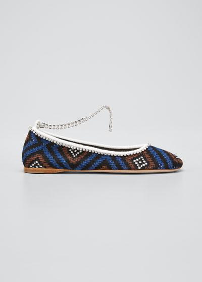 Crochet Ankle-Bracelet Ballerina Flats