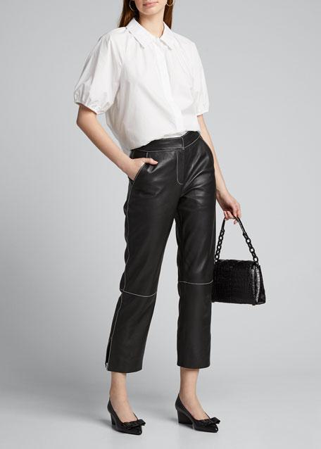 Viva Leather Bow Pumps