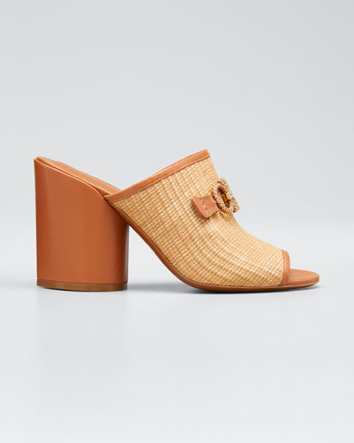 Robins Raffia Link Slide Sandals