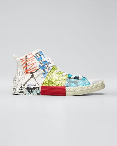 Graffiti High-Top Sneakers
