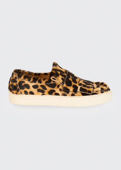 Leopard Calf Hair Sneaker Loafers