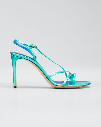 Elements 85mm Iridescent Toe-Loop Sandals