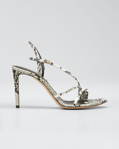 Elements 85mm Snake-Print Toe-Loop Sandals
