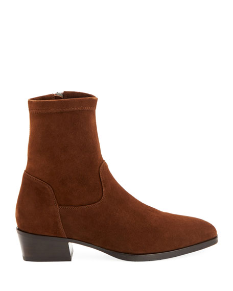 Faren Suede Zip Booties