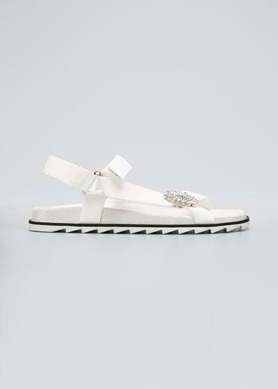 Embellished Flat Sport Sandals