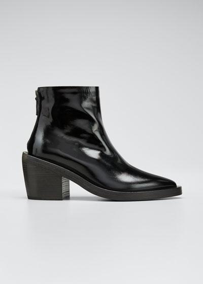 Coneros Patent Leather Booties
