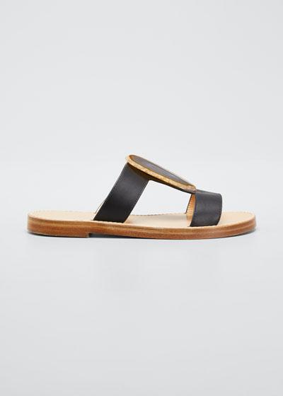 Hades Agate T-Strap Slide Sandals