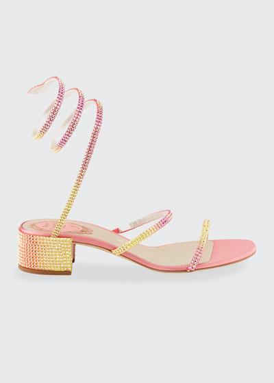 Pastel Ombre Crystal Snake 40mm Sandals
