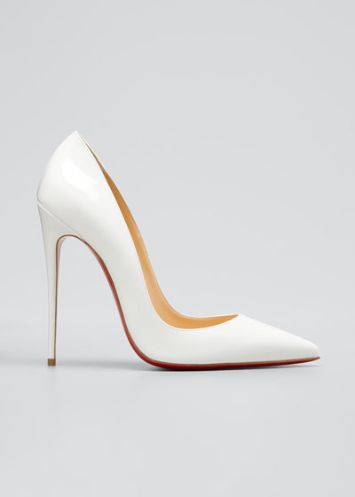 So Kate Patent Leather Point-Toe Pumps  Black