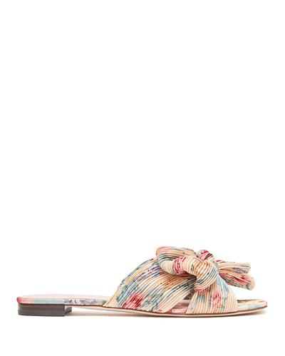 Daphne Knotted Bow Slide Sandals