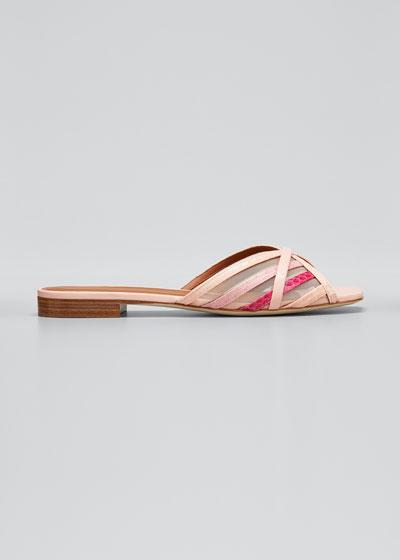 Pim Multi-Striped Mesh Sandals