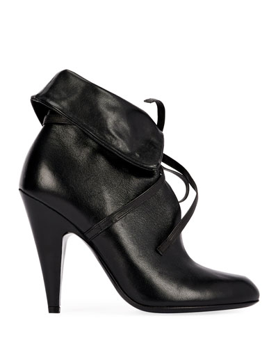 105mm Napa Ankle-Tie Cuff Booties