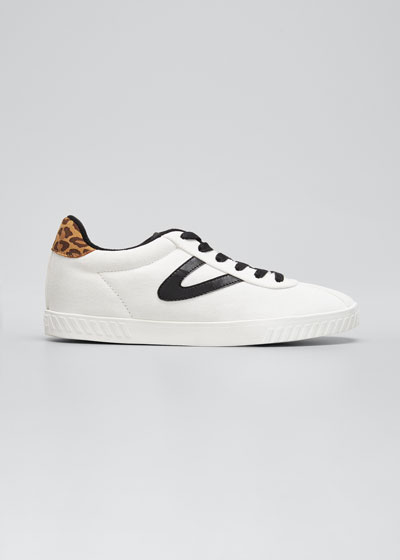 Callie Leather Low-Top Sneakers