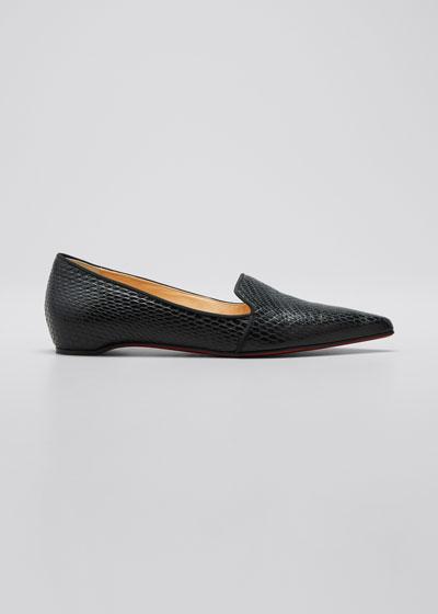 Kashasha Snake-Print Flat Loafers