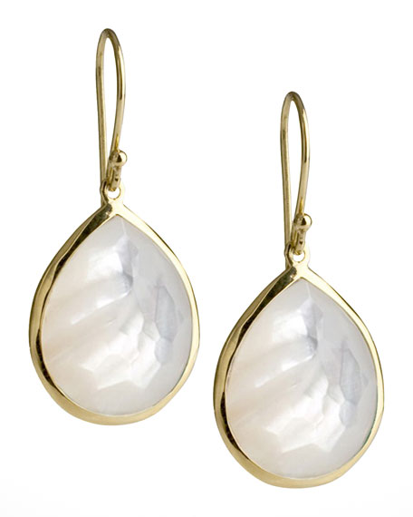 Medium Mother-of-Pearl Teardrop Earrings