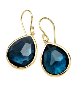 Ippolita Medium Teardrop Earrings, London Blue Topaz