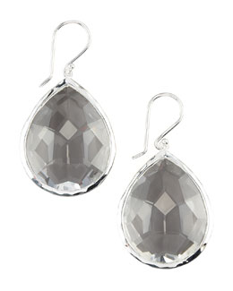 Teardrop Quartz Earrings, Large