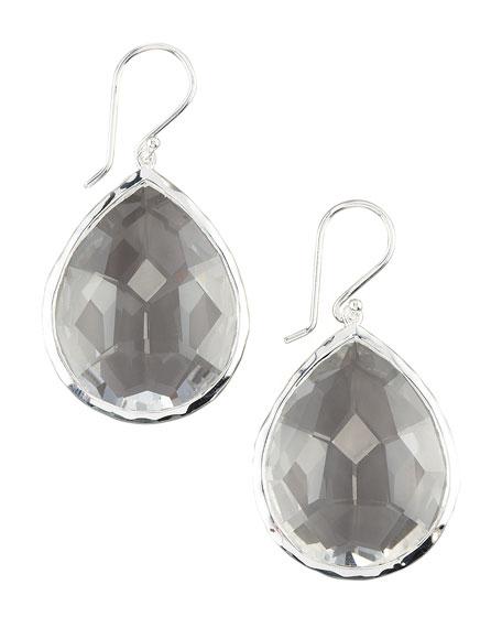 Teardrop Quartz Earrings, Large