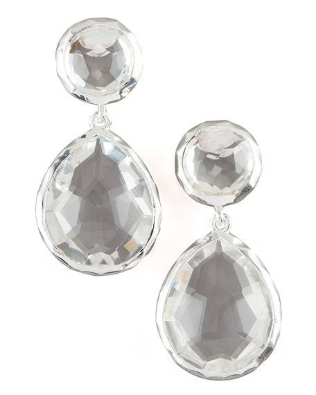 Clear Quartz Snowman Earrings