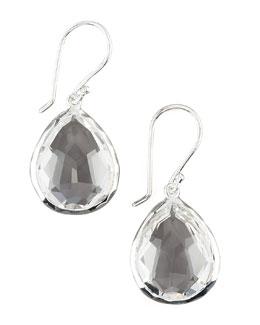 Teardrop Quartz Earrings, Small
