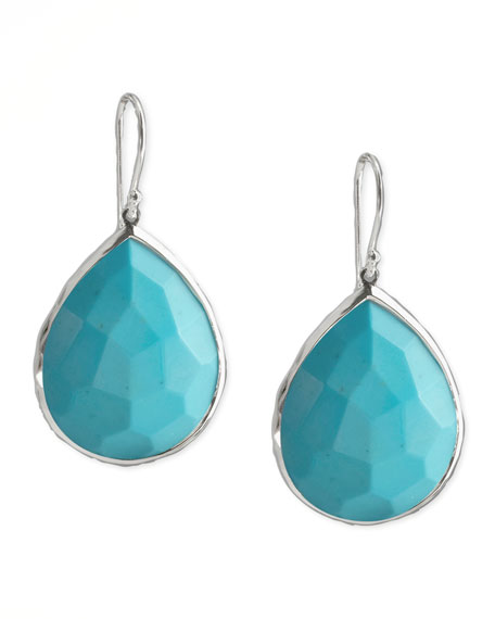 Turquoise Teardrop Earrings, Medium