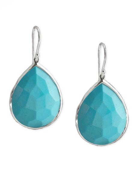 Turquoise Teardrop Earrings, Medium