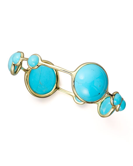 Nine-Stone Turquoise Bangle