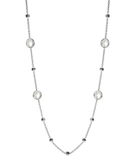 Ippolita Lollipop Glamazon Necklace, Clear Quartz