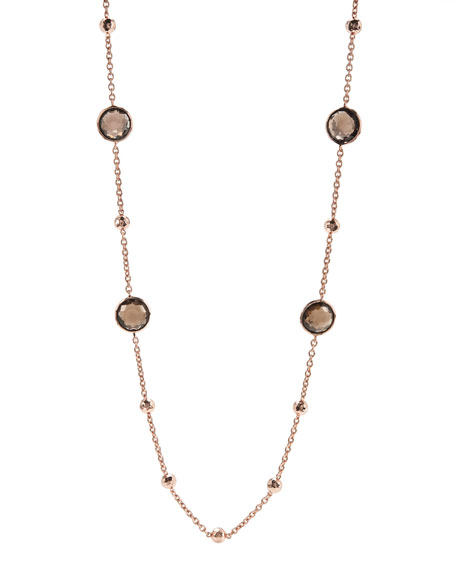 "Rose Mini Lollipop Quartz Necklace, 37""L"