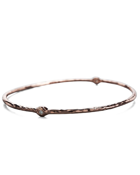 Two-Diamond Rose Bangle