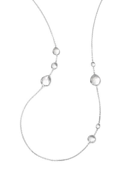 """Wonderland Quartz Necklace, 33""""L"""