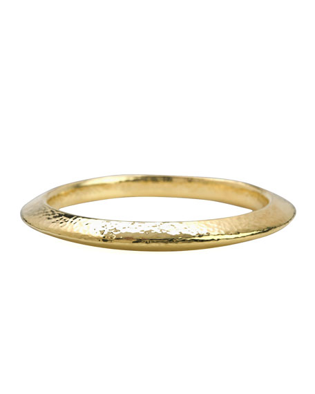 Glamazon Knife-Edge Gold Bangle